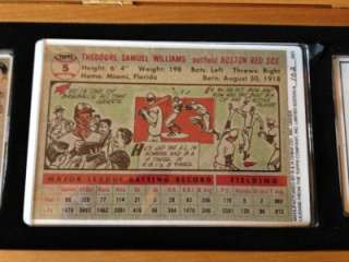 Ted Williams autographed limited edition procelain card set from Topps