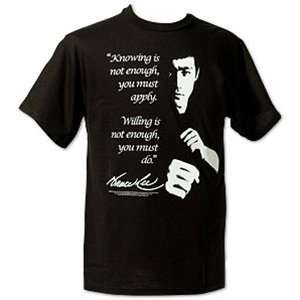 Bruce Lee Knowledge Quote T shirt