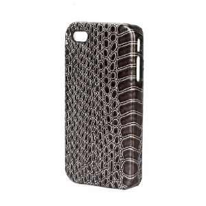 Snake Skin Print Dark Gray Hard Cover Cell Phone Case for Apple iPhone