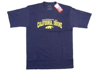 UC IRVINE ANTEATERS ADULT NAVY BLUE EMBROIDERED UNIVERSITY OF T SHIRT