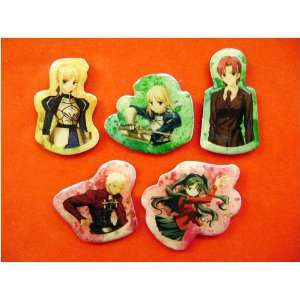 Fate/Stay Night 5pc Pin Set   Saber Rin Archer Ayako
