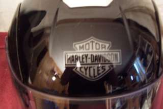 Harley Davidson stealth flame helmet/leather case small
