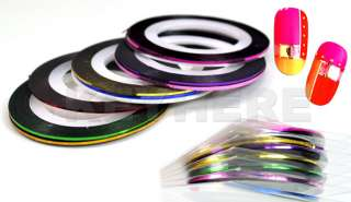 10 Rolls Striping Tape Line Nail Art Stick Decoration