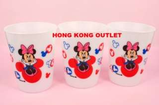 Mickey & Minnie Mouse Plastic Cup Set of 3 A15b