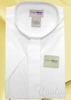 WHITE 16 TAB COLLAR WOMENS CLERGY SHORT SLEEVE SHIRT