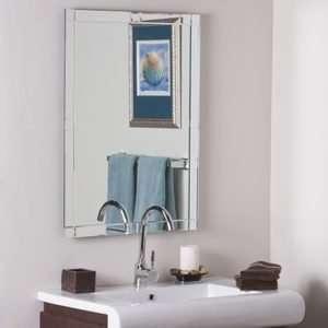 Geometric Multi Bevel Frameless Wall Mirror