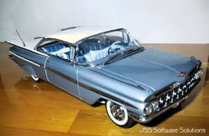 1959 Impala Coupe In Frost Blue DDS $89 Daily Driver series
