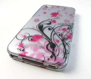 FLOWERS HARD CASE COVER FOR APPLE IPHONE 4 4s PHONE ACCESSORY