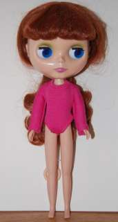 Doll Clothes for 12 Blythe Doll Bright Pink Bodysuit with long