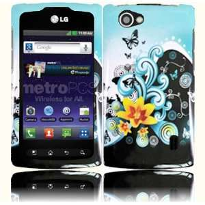 Yellow Lily Design Hard Case Cover for LG Optimus M+ MS695