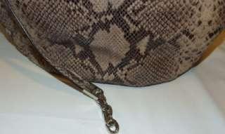MICHAEL Michael Kors Julian Python Embossed Shoulder Tote Handbag