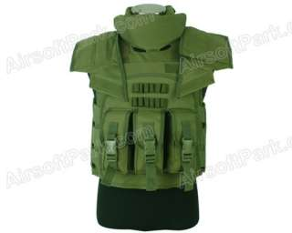 Airsoft Paintball Tactical SDU Body Armor Vest Olive Drab