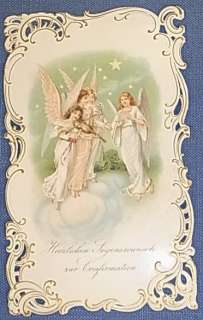 * BEAUTIFUL VICTORIAN ANTIQUE CRISTENING CONGRATULATIONS CARD