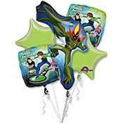 Ben 10 Cartoon Network Foil 5 Party Balloon Bouquet 026635186605