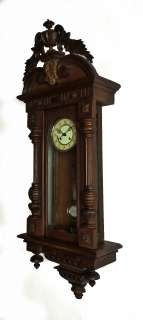 Antique German wall clock at 1880 / 1900