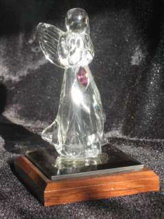 Vintage Dacra Glass February Amethyst Crystal Angel