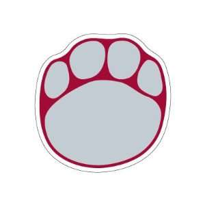 ALABAMA CRIMSON TIDE OFFICIAL PAW LOGO CAR DECAL
