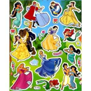 Disney Princesses STICKER SHEET D115 ~ Snow White Cinderella Aurora
