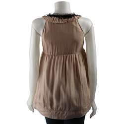 Pure Sugar Womens Lace and Silk Sleeveless Shirt