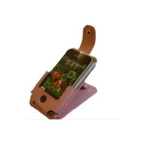 Apple Iphone 4 Leather Flip Case Pink Cell Phones
