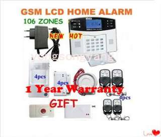 Wireless GSM SMS Auto dial Home Security System Auto dial Alarm LCD