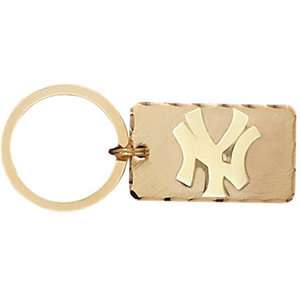 MLB   New York Yankees Gold Plated Brass Key Chain
