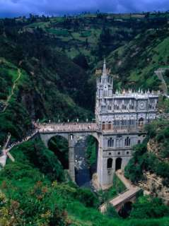 Santuario De Nuestra Senora De Las Lajas Church Built on Bridge Over