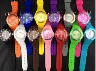 watch Fashion Silicone watch Quartz Jelly Wrist Watch 13 Color