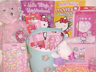 HELLO KITTY TOY EASTER BASKET TOYS PLUSH DOLL BOOKS ART