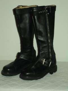ICONIC John Fluevog ANGEL SOLES Black Leather Goth Motorcycle Boots Sz