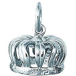 Sterling Silver Kings Velvet Crown Charm
