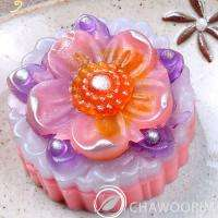 Handmade Soap   Flower and Beads Silicone Soap Molds