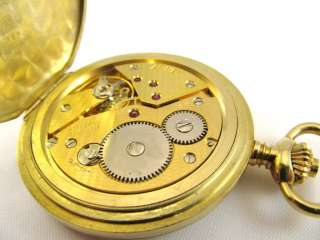 18k Arnex 17 Jewels Incabloc Swiss Made Pocket Watch