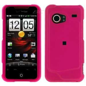 Rubberized Case HTC Droid Incredible (Hot Pink) with hole