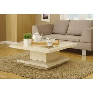 Hokku Designs Audra Square Coffee Table in Ivory Furniture
