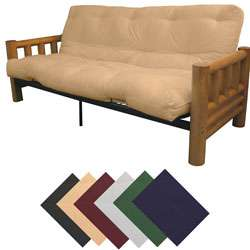 Full Rustic Lodge Frame/ Premier Mattress Futon Set