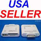 iPOD iPHONE PAD CARD READER SD HC MS MMC M2 TF USB CAMERA FLASH THUMB