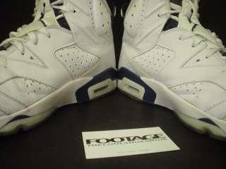 2000 Nike Air Jordan VI 6 Retro + WHITE NAVY BLUE Sz 13