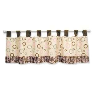 Sweet Safari Pink Nursery Baby Bedding Window Valance