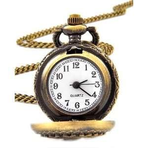 Goldtone Pendant Pocket Watch Necklace Fashion Jewelry Jewelry