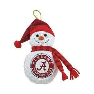 Alabama Crimson Tide Plush Musical Snowman Ornament