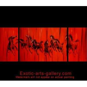 Painting Chinese Horse Painting Feng Shui Art 3 536 Home & Kitchen