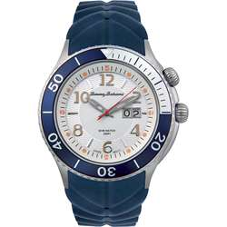 Tommy Bahama Mens Blue Dive Rubber Watch