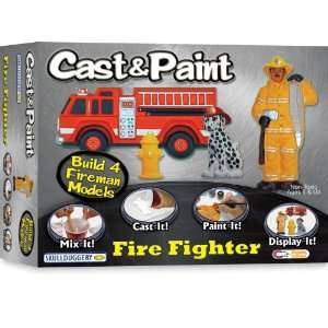 Skullduggery Cast and Paint Fire Fighter Casting Kit Toys & Games