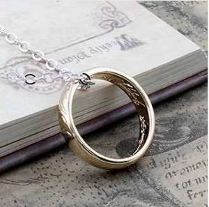 LORD OF THE RINGS GOLD PLATED The One RING FREE CHAIN