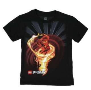 Lego Ninjago Kai Red Ninja Boys Black T shirt: Clothing