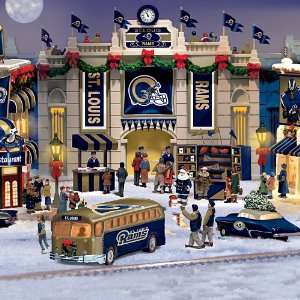 . Louis Rams Collectible Christmas Village Collection