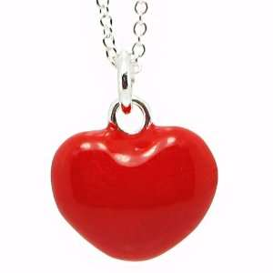 Fashion Jewelry Red Heart Medallion Pendant (Easters Gift