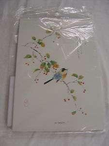 vtg WWII JAPANESE PAPER STATIONARY Cherry Blossom Bird