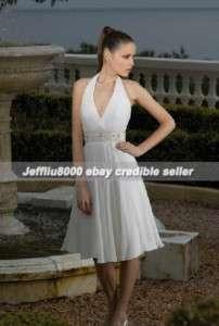 Cheap Halter Short Bridal Gown/Wedding Dresses Discount